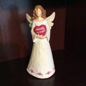 "GANZ ""Mothers are angels"" ceramic figurine."
